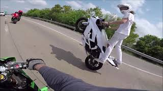 Stunt Motorcycle TAKEOVER Highway At ESR Stunt Ride 2019!