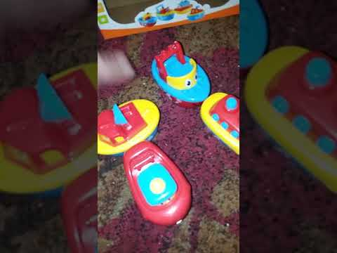 3 Bees and me magnetic bath boat toys.. Christmas toys educational and coupon code!