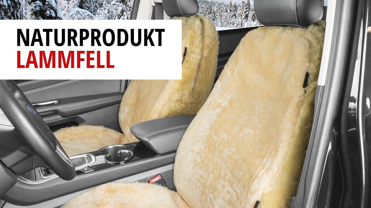 Vorschau: Autositzbezug Tiauna Doppelkappenfell aus Lammfell beige mit ZIPP IT System