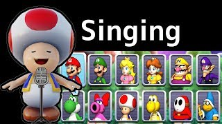Mario Party 9 〇 All Characters Voices Singing To Menu Music