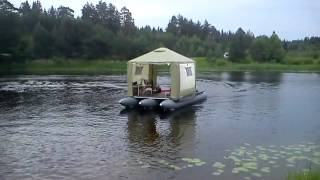 Надувные плоты для рыбалки с палаткой