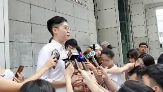 「直播」陳浩天陳家駒見記者交代早前被捕