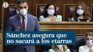 """Sánchez asegura """"rotundo"""" que no sacará a 200 etarras de la cárcel"""
