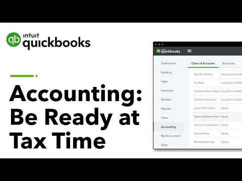 Accounting 101: Be Ready at Tax Time! | QuickBooks Training ...