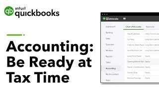 Accounting 101: Be Ready at Tax Time! | QuickBooks Training Webinars 2019