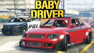 GTA V Online - Baby Driver Robbery Challenge!