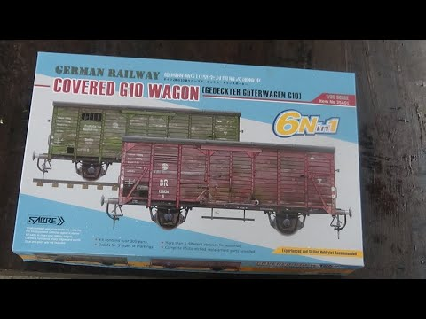 6in1 Red Cross Sabre 1:35 Gedeckter Güterwagen G10