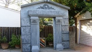 Halloween Facade | Mausoleum Crypt Entrance | Haunted House Prop | Halloween Decorations
