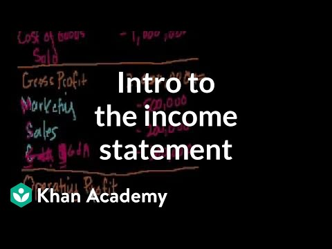 Introduction to the income statement (video) Khan Academy