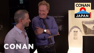 Conan & Jordan Visit The Toto Toilet Showroom | CONAN on TBS