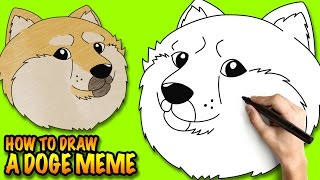 how to draw cute shiba