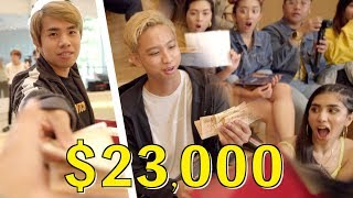 Giving Friends $23,000 to Spend in 1 Hour (+ Reactions)