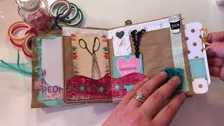 Embellishing Paper Bag Smash Books
