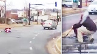 Toddler Strapped to Car Seat Falls Out of Moving Vehicle