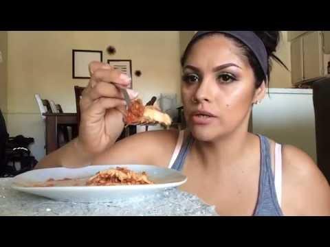 Homemade Lasagna mukbang