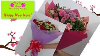 THUY TIEN FLOWER - Hướng Dẫn Kết Bó Hoa Hồng Tròn Cho Ngày Valentine 14/2 Và 8/3