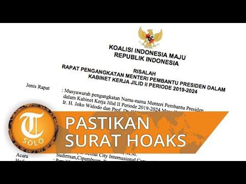 Beredar Surat Berisi Susunan Kabinet Jokowi-Ma'ruf, Istana Pastikan Hoaks