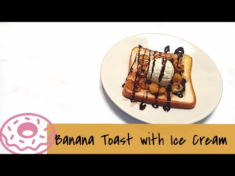 Video Resep Pisang Roti Pangganggan Es Krim | Banana Toast with Ice Cream Recipe