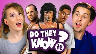 DO COLLEGE KIDS KNOW 80s ACTION MOVIES (REACT: Do They Know It)