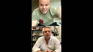 Conversando con Alberto Fernández sobre cómo se está manejando la pandemia en Argentina entre otras cosas.