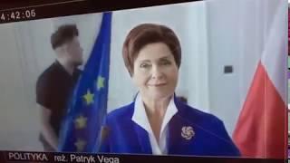 Patryk Vega pokazuję Beatę Szydło w swoim nowym filmie Polityka.