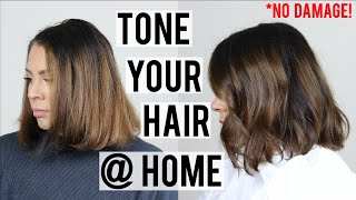 HOW TO TONE YOUR HAIR AT HOME WITHOUT DAMAGE   REMOVE BRASSY TONES & REFRESH YOUR COLOR