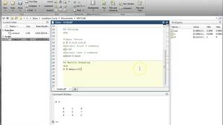 MATLAB Introduction: Array Indexing
