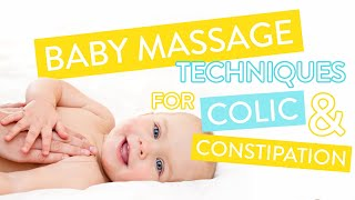 How To Treat Colic & Constipation - Baby Massage Course Part Two | Channel Mum