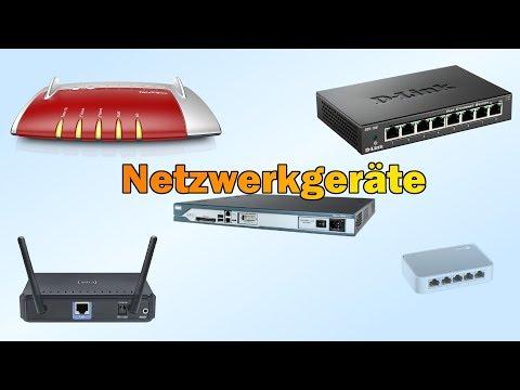 Netzwerkgeräte - Hub, Switch, Router, Modem, AP, IAD