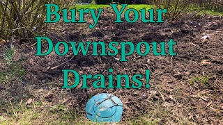 Bury Your downspouts DIY, EASY and CHEAP!