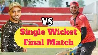 Single Wicket Final Kannu Dharmkot / Talwinder Sosan Casco Cricket || Punjablive24 | Tennis Cricket