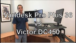 Victor Dc450 High Rise Electric Dual Monitor Height