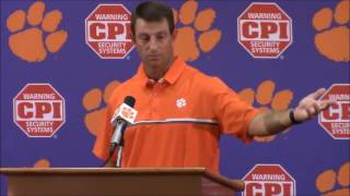 """TigerNet.com - Dabo Swinney on national anthem: """"I hate to see what is going on in our country"""""""