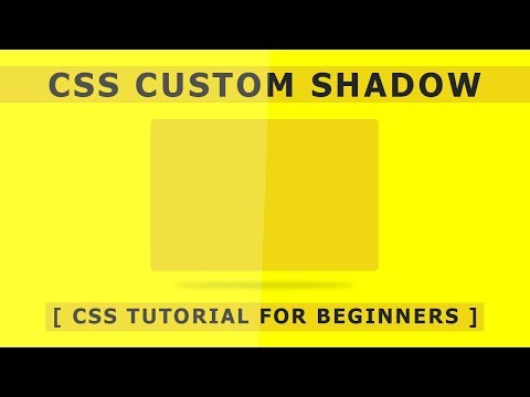 Html Css Custom Shadow - Css Hover Effects - Pure Css Tutorial For Beginners