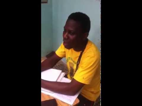 Young murid singing poetry of Shaykh Ibrahim, Madina Baye Senegal