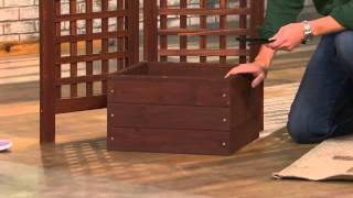 Merry Products Foldable Wooden Entertainment & Potting Table With Carolyn Gracie