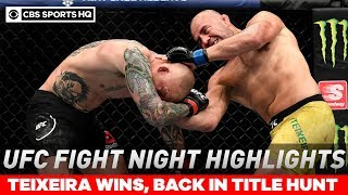 UFC Fight Night highlights: Teixeira brutalizes Smith in dominant TKO victor | CBS Sports HQ