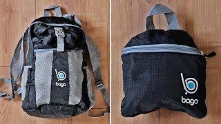 Faltbarer & leichter Rucksack von Bago - perfekt für Reise & Urlaub! // Handgepäck & Tagesrucksack