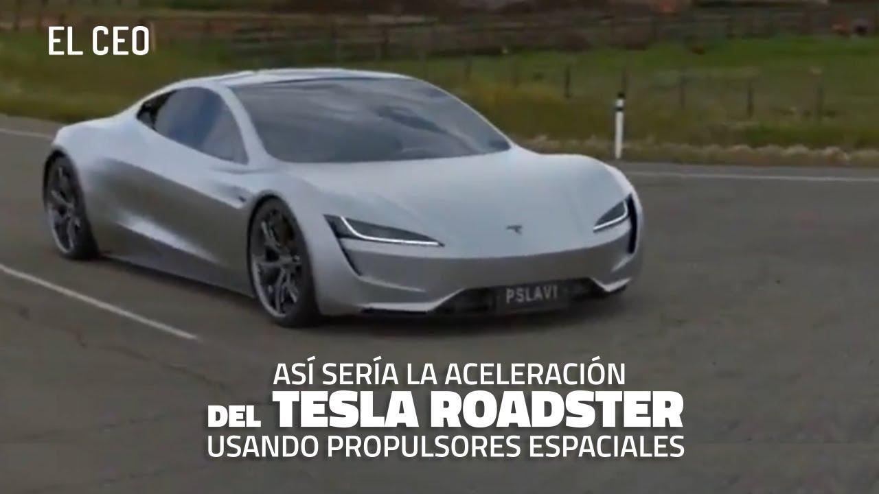 Así sería la aceleración del Tesla Roadster usando propulsores espaciales