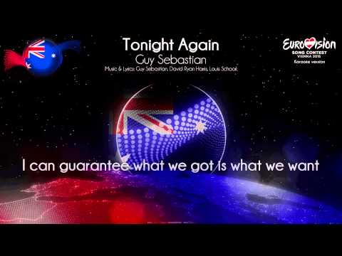 "Guy Sebastian - ""Tonight Again"" (Australia) - [Karaoke Version] Mp3"