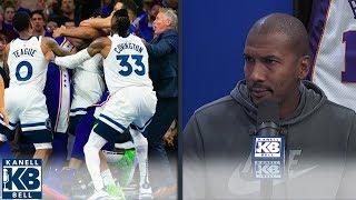 "Raja Bell: ""That was a hug me to the ground fest"" between Embiid and KAT I Kanell & Bell"