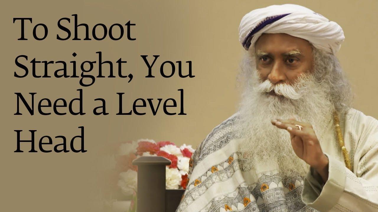To Shoot Straight, You Need a Level Head – Sadhguru with BSF