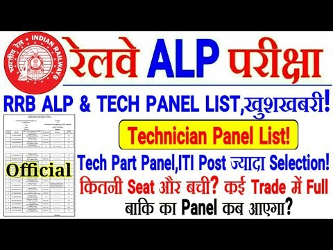 RRB ALP & TECH PANEL PART जारी🎉Technician का Panel आया!बहुत Selection,कितनी Seat और बची?