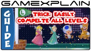 Super Mario 3D World Trick: Easily Beat All Levels as All 5 Characters - Guide & Walkthrough (Wii U)