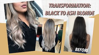 MY NEW HAIR! Black To Ash Blonde Balayage