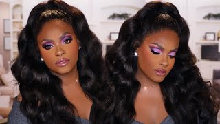 Purple Holiday Glitter Glam x Megalook Hair