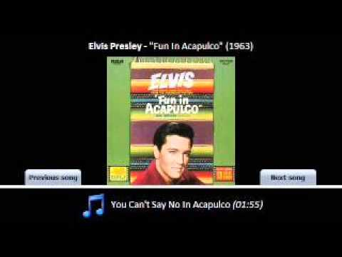 You can't say no in acapulco (Elvis cover karaoke)
