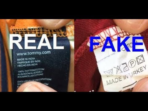 Real vs. Fake Tommy Hilfiger polo. How to spot fake Tommy.