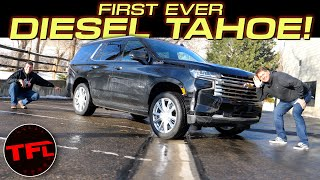 The 2021 Chevrolet Tahoe Diesel Gets An Incredible 28 MPG On The Highway - Let's Take A Closer Look! by The Fast Lane Car