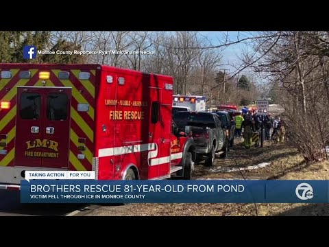 Brothers rescue elderly man from pond in Monroe County